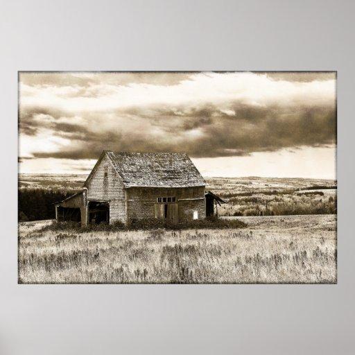 Viejo oeste del vintage impresiones