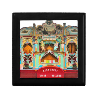 Viejo órgano de barril holandés cajas de joyas