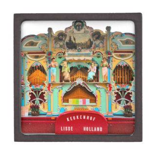 Viejo órgano de barril holandés caja de recuerdo de calidad
