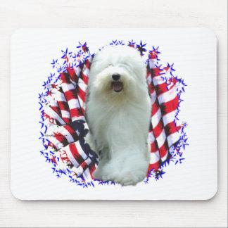 Viejo patriota inglés del perro pastor tapetes de raton
