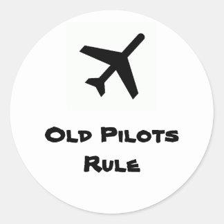 Viejo pegatina de la regla de los pilotos