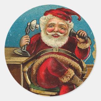 Viejo pegatina del navidad de Santa de la moda