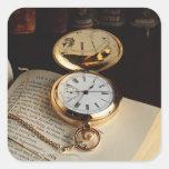 Viejo pegatina elegante del reloj