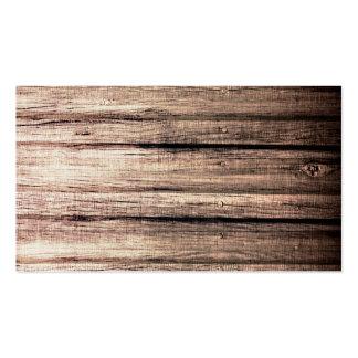 Viejo perfil de madera del profesional de la textu tarjetas de visita