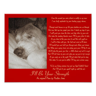 viejo poema original de la condolencia del mascota póster