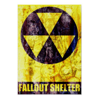 Viejo refugio de polvillo radiactivo póster