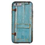 Viejo retro resistida rústico oxidado de la puerta funda de iPhone 6 tough