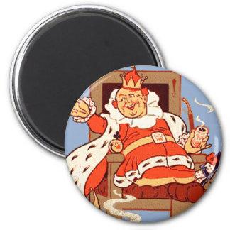 Viejo rey Cole Magnet Imán Redondo 5 Cm
