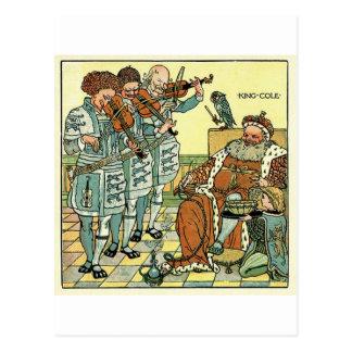 Viejo rey Cole por el ~ 1845 de la grúa de Gualter Tarjeta Postal