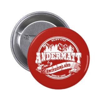 Viejo rojo del círculo de Andermatt Pins