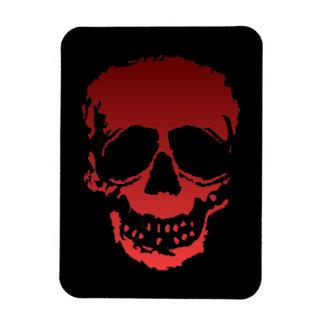 Viejo rojo del cráneo imán foto rectangular