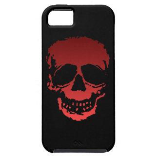 Viejo rojo del cráneo iPhone 5 carcasa