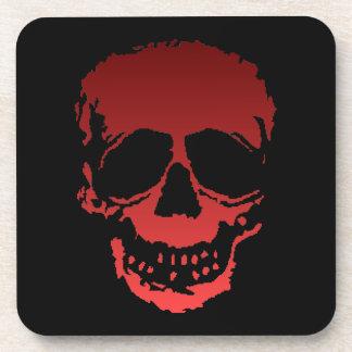 Viejo rojo del cráneo posavaso