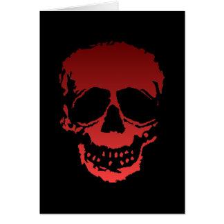 Viejo rojo del cráneo tarjeta de felicitación
