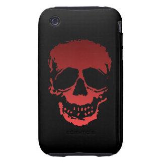 Viejo rojo del cráneo tough iPhone 3 coberturas