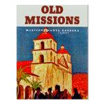 Viejo ~ Santa Barbara de las misiones Tarjeta Postal