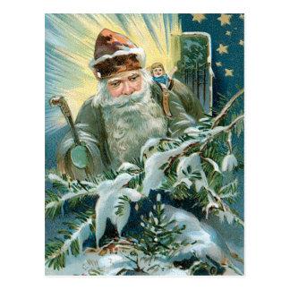 Viejo santo Nicholas Postal
