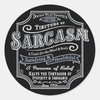 Viejo sarcasmo de Tyme Pegatina Redonda