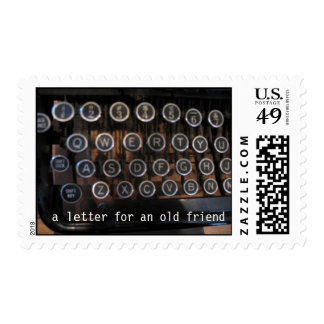 Viejo sello de la máquina de escribir