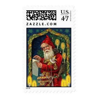 Viejo sello de Papá Noel del vintage de Fahioned