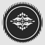 Viejo sello del sobre del damasco de Hollywood Pegatina Redonda