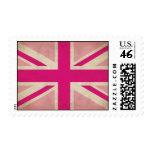 Viejo sello rosado de Union Jack