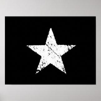 viejo símbolo rasguñado del ejército de la estrell póster