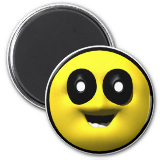 Viejo smiley amarillo iman de nevera