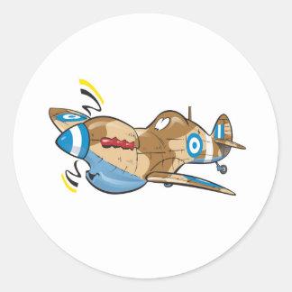 viejo spitfire helénico de la Real Fuerza Aérea Pegatina Redonda