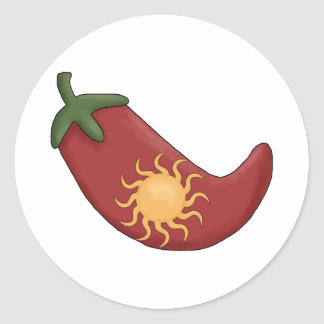 ¡Viejo Sun rellenó la pimienta de chile rojo Etiqueta Redonda