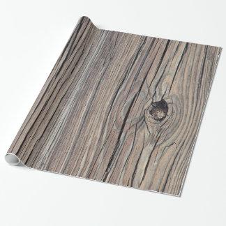 Viejo tablero de madera resistido vintage del papel de regalo