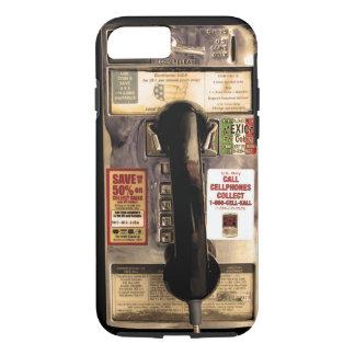 Viejo teléfono de pago divertido funda iPhone 7