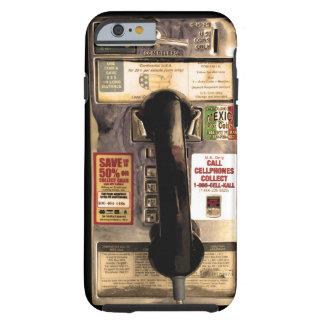Viejo teléfono de pago divertido funda resistente iPhone 6