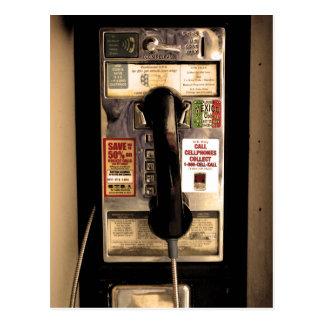 Viejo teléfono de pago tarjeta postal