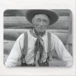 Viejo vaquero tapetes de ratones
