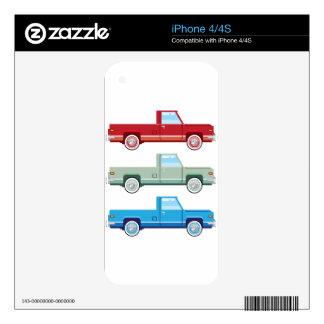 Viejo vector de la camioneta pickup del vector calcomanía para el iPhone 4