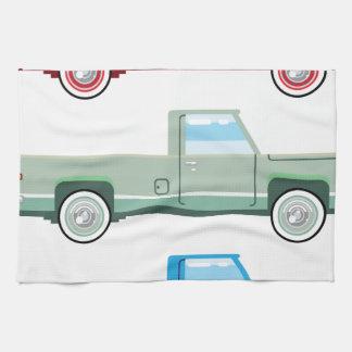 Viejo vector de la camioneta pickup del vector toalla