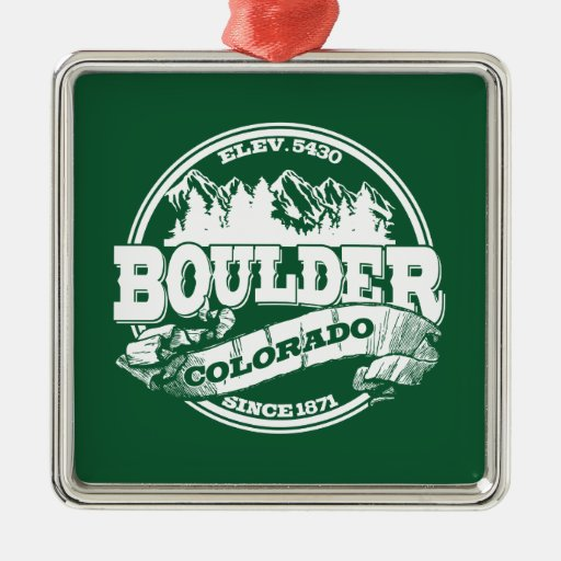 Viejo verde del círculo de Boulder Adornos De Navidad