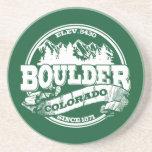 Viejo verde del círculo de Boulder Posavasos Cerveza