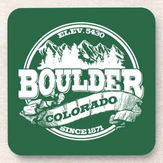 Viejo verde del círculo de Boulder Posavasos De Bebidas