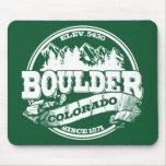 Viejo verde del círculo de Boulder Tapete De Ratones