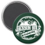 Viejo verde del círculo de Jackson Hole Imán Redondo 7 Cm
