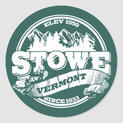 Viejo verde del círculo de Stowe Pegatina Redonda