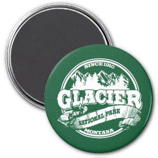 Viejo verde del círculo del glaciar imán redondo 7 cm