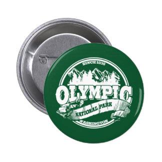 Viejo verde olímpico del círculo pin redondo de 2 pulgadas