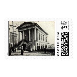 Viejo vintage 1910 del SC de Charleston del Sello Postal