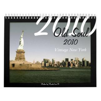 Viejo vintage 2010 del alma Nueva York (ed Calendarios