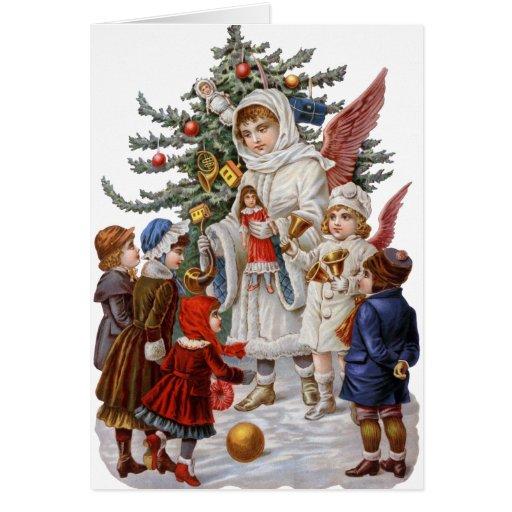 Viejo vintage de la tarjeta de Navidad de la moda