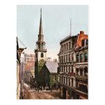 Viejo vintage del sur 1900 de Boston de la iglesia Postal