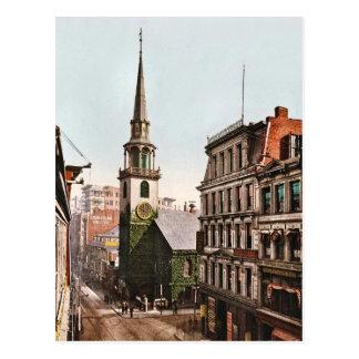 Viejo vintage del sur 1900 de Boston de la iglesia Tarjeta Postal
